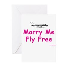 Marry Me, Fly Free (Pink) Greeting Cards (Package