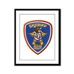 Denton County Sheriff Framed Panel Print