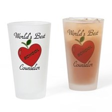 Funny School counselor Drinking Glass