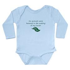 Unique Vegan baby Long Sleeve Infant Bodysuit