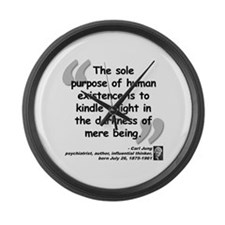 Jung Purpose Quote Large Wall Clock