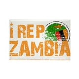 I rep Zambia Rectangle Magnet (100 pack)