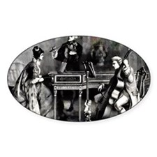 Antique Chamber Music Oval Decal
