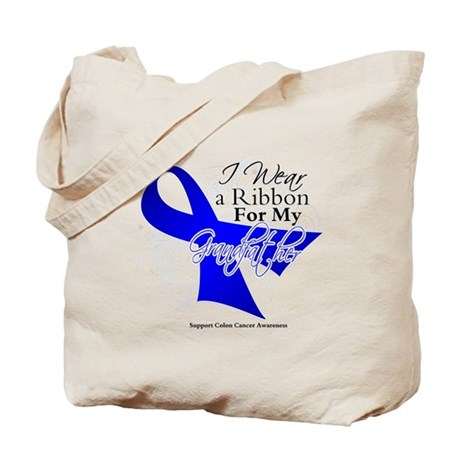 Grandfather Colon Cancer Tote Bag