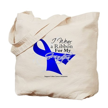 Grandpa Colon Cancer Tote Bag