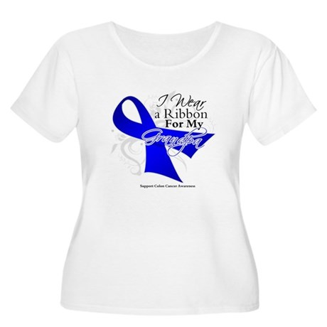 Grandpa Colon Cancer Women's Plus Size Scoop Neck