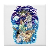 Jesus Walks on Water Tile Coaster