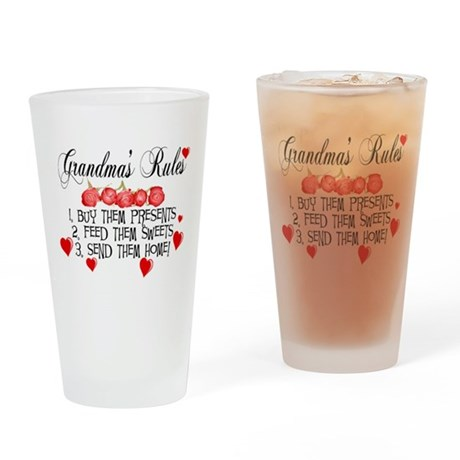 Grandma's Rules Drinking Glass