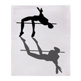 High Jumper Throw Blanket