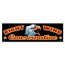 Right Wing Conservative Car Sticker