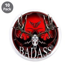"Club bad ass 3.5"" Button (10 pack)"
