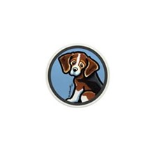 Cute Tri-color Beagle Mini Button (10 pack)
