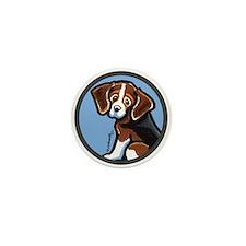 Cute Tri-color Beagle Mini Button