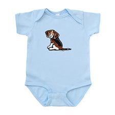 Cute Tri-color Beagle Infant Bodysuit
