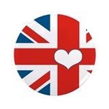 "union jack love 3.5"" Button (100 pack)"