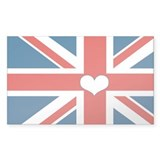 union jack love Decal