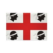 Sardinia Flag Rectangle Magnet