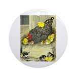 Mother Hen Ornament (Round)
