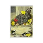 Mother Hen Rectangle Magnet (100 pack)