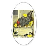 Mother Hen Oval Sticker