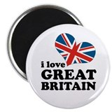 "i love GB 2.25"" Magnet (100 pack)"