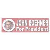 John Boehner for President Bumper Sticker