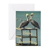 Happy Anniversary Pelicans Greeting Card