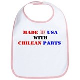 Made in USA with Chilean Parts! Bib