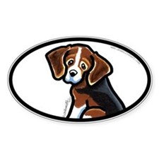 Cute Tri-color Beagle Decal