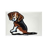 Cute Tri-color Beagle Rectangle Magnet (10 pack)