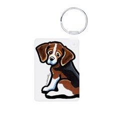 Cute Tri-color Beagle Keychains