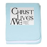 Christ Lives in Me baby blanket