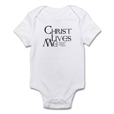 Christ Lives in Me Onesie