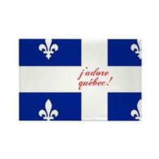 j'adore québec! Rectangle Magnet
