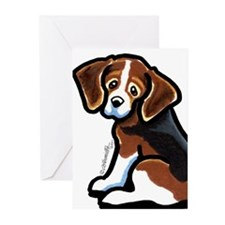 Cute Tri-color Beagle Greeting Cards (Pk of 10)
