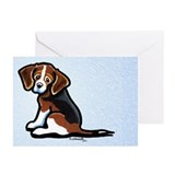 Cute Tri-color Beagle Greeting Cards (Pk of 20)