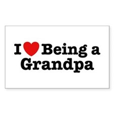 I Love Being a Grandpa Rectangle Decal