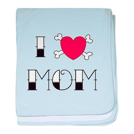 I (Love) heart MOM baby blanket