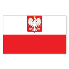 Poland State Flag Rectangle Decal