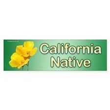 """Calif. Native"" Poppy bumper sticker"