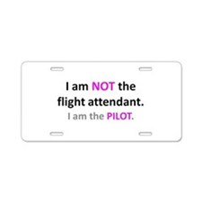 Cute Women pilots Aluminum License Plate