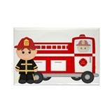 Cool Firefighter baby Rectangle Magnet
