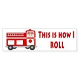 Whimsical firemen Bumper Sticker