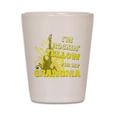 I'm Rockin' Yellow for my Gra Shot Glass