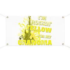 I'm Rockin' Yellow for my Gra Banner