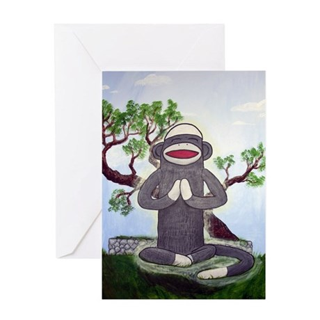 Sock Monkey Nirvana Greeting Card