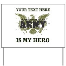 Personalizeable Army Hero Yard Sign