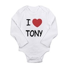 I heart tony Long Sleeve Infant Bodysuit