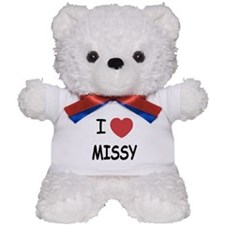 I heart missy Teddy Bear