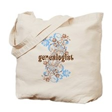 Genealogist Flowered Tote Bag